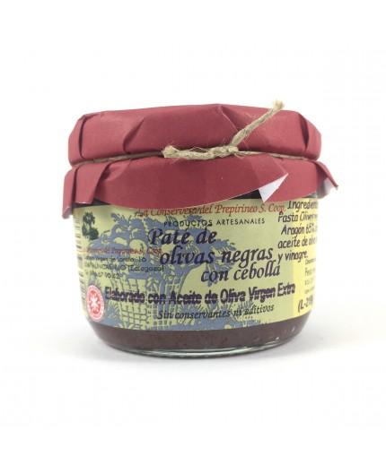 Paté de olivas negras con cebolla de Uncastillo