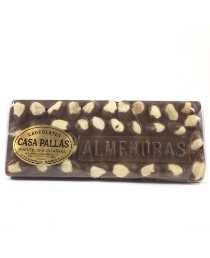 Chocolate con leche y almendras Pallás