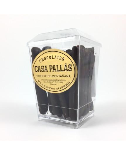 Palitos de naranja con chocolate negro Pallás