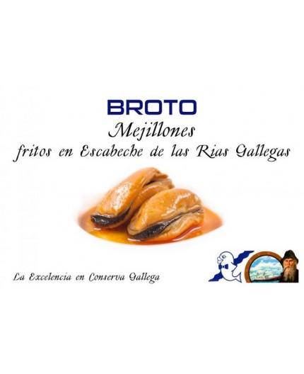 Mejillones fritos en escabeche Broto