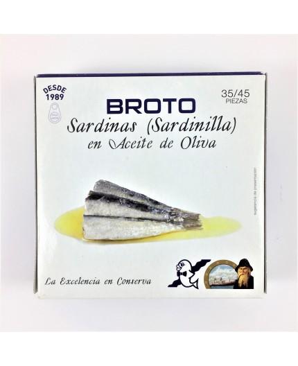 Sardinilllas en aceite de oliva Broto