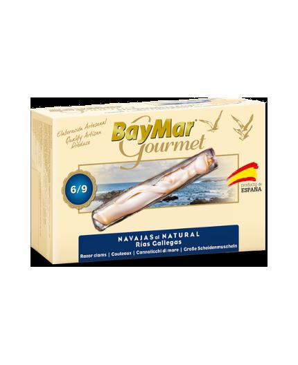 Navajas al natural de las Rías Baymar Gourmet