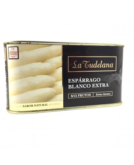 Espárragos D.O  Navarra blancos extra La Tudelana  8/12