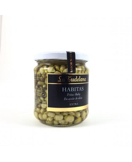 Habitas baby fritas en aceite de oliva La Tudelana