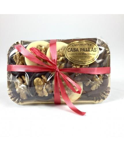 Bandeja chocolates con nueces Pallás