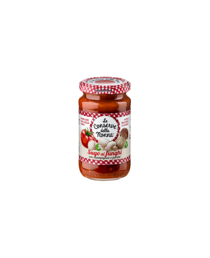 Salsa de tomate y fungui y  Le Conserve della Nonna
