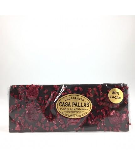 Chocolate negro con frambuesas Pallás