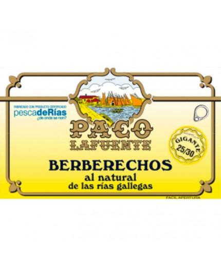 Berberechos al natural de las Rías Gallegas Paco Lafuente 30/35